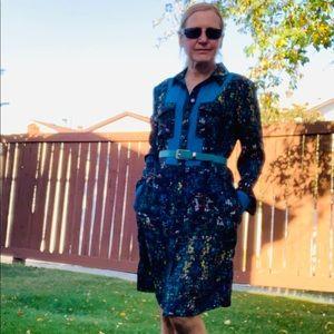 Derek Lam New Abstract Print Shirt Dress Size M